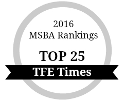 TFE Times Top 25 MSBA Ranking 2016
