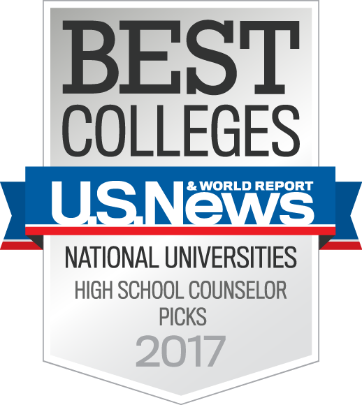 US News & World Report Best Colleges National Universities High School Counselor Picks 2017