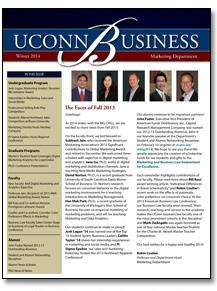 marketing department newsletter winter 2014 school of business