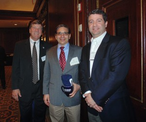 Pictured: John A. Elliott with Allan Weiss (Founder/CEO Weiss Residential Research LLC) and David Francione '96 MBA at the Real Estate Alumni Networking Reception in Boston, MA.
