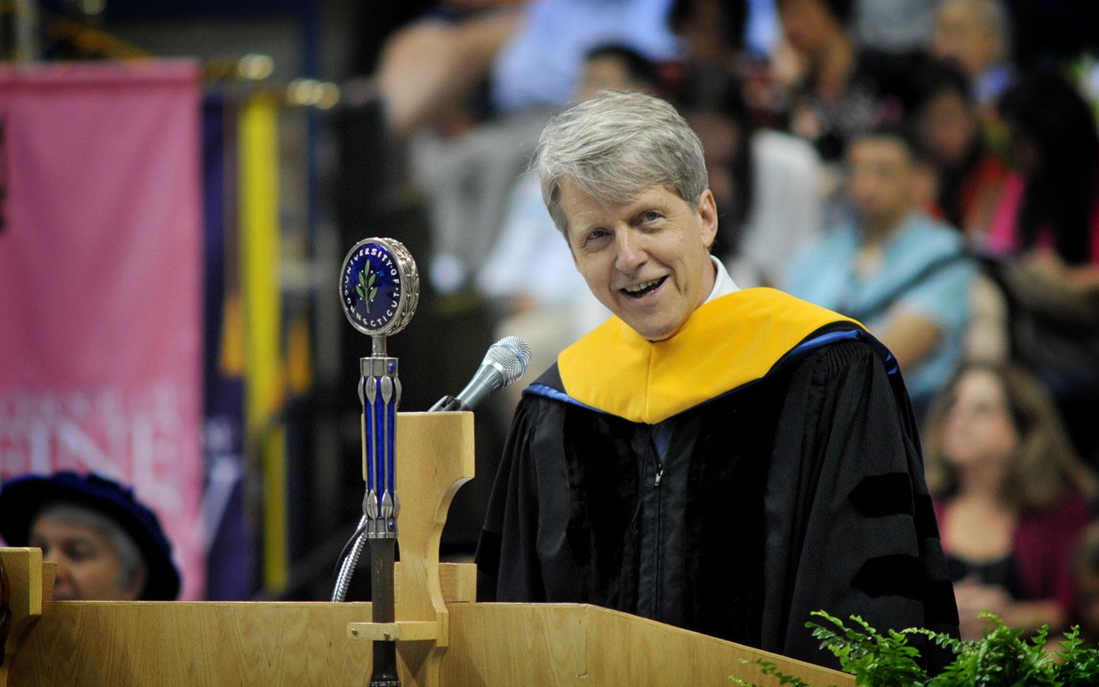 Nobel-Prize Winning Professor Tells Business Graduates to Do Well, Do Good