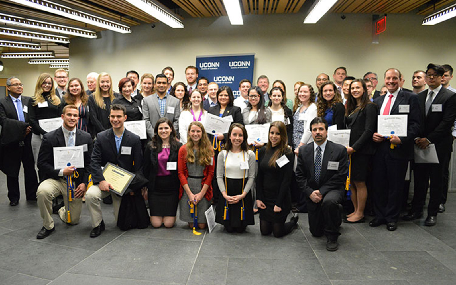 New Members Inducted into Business Honor Society
