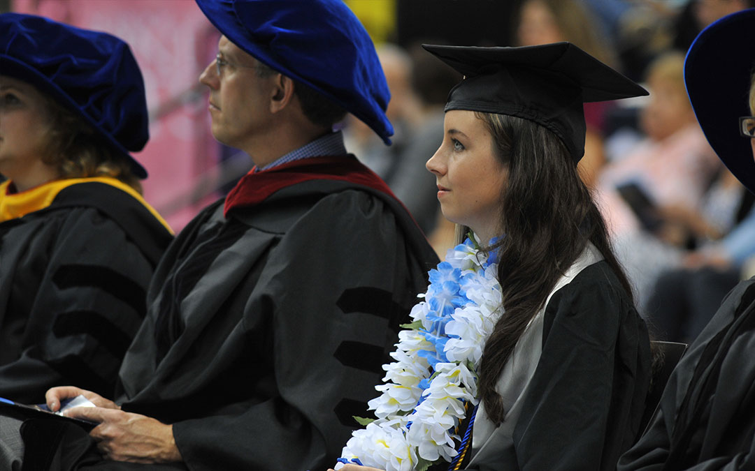 Aileen Tobin '15 (pictured) delivered the student keynote at Commencement.
