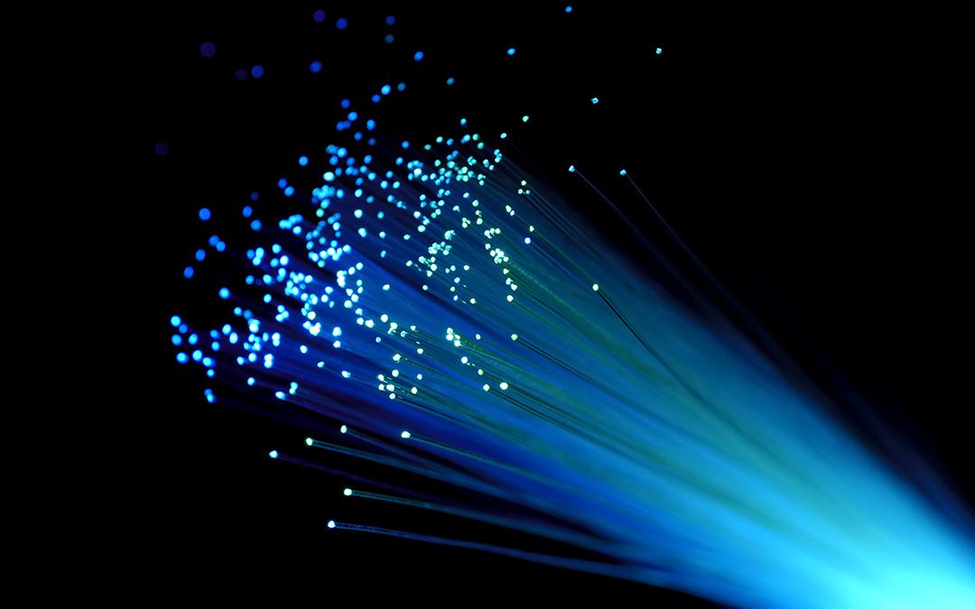 Blue Fiber Optic Strands