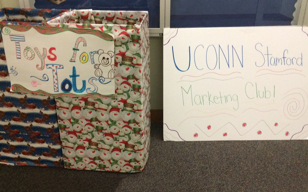 UConn Stamford Marketing Club's 2015 Toy and Food Drive (Kevin McEvoy/UConn School of Business)