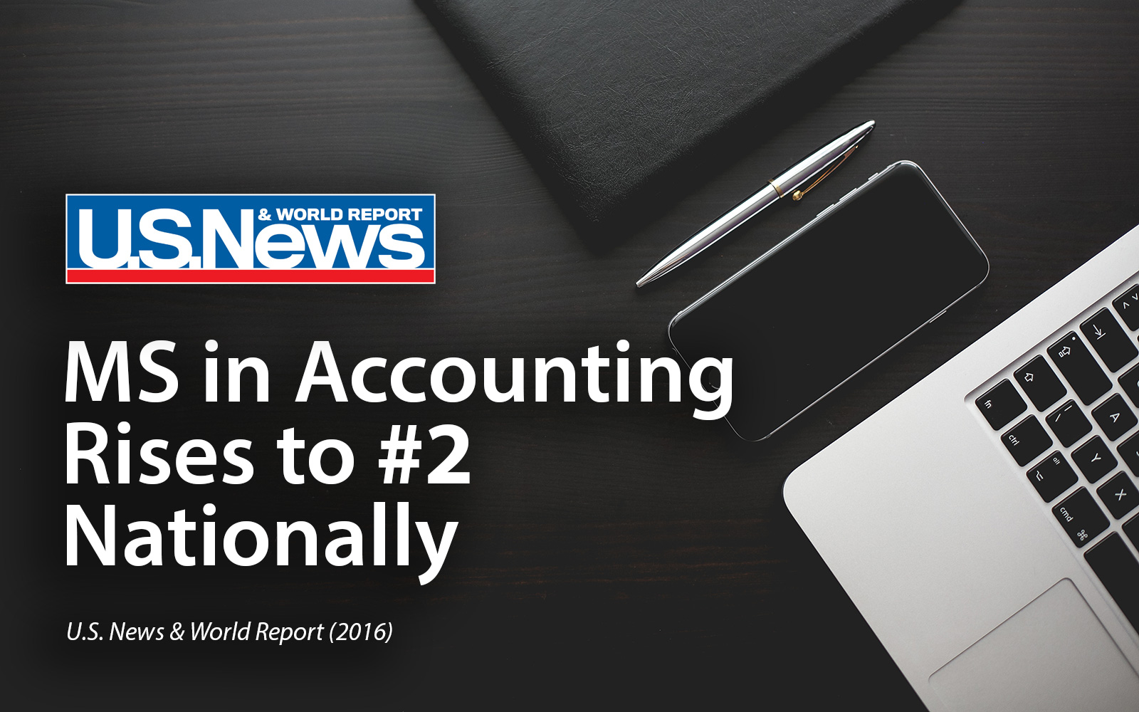 MS in Accounting Rises to #2 Nationally | U.S. News