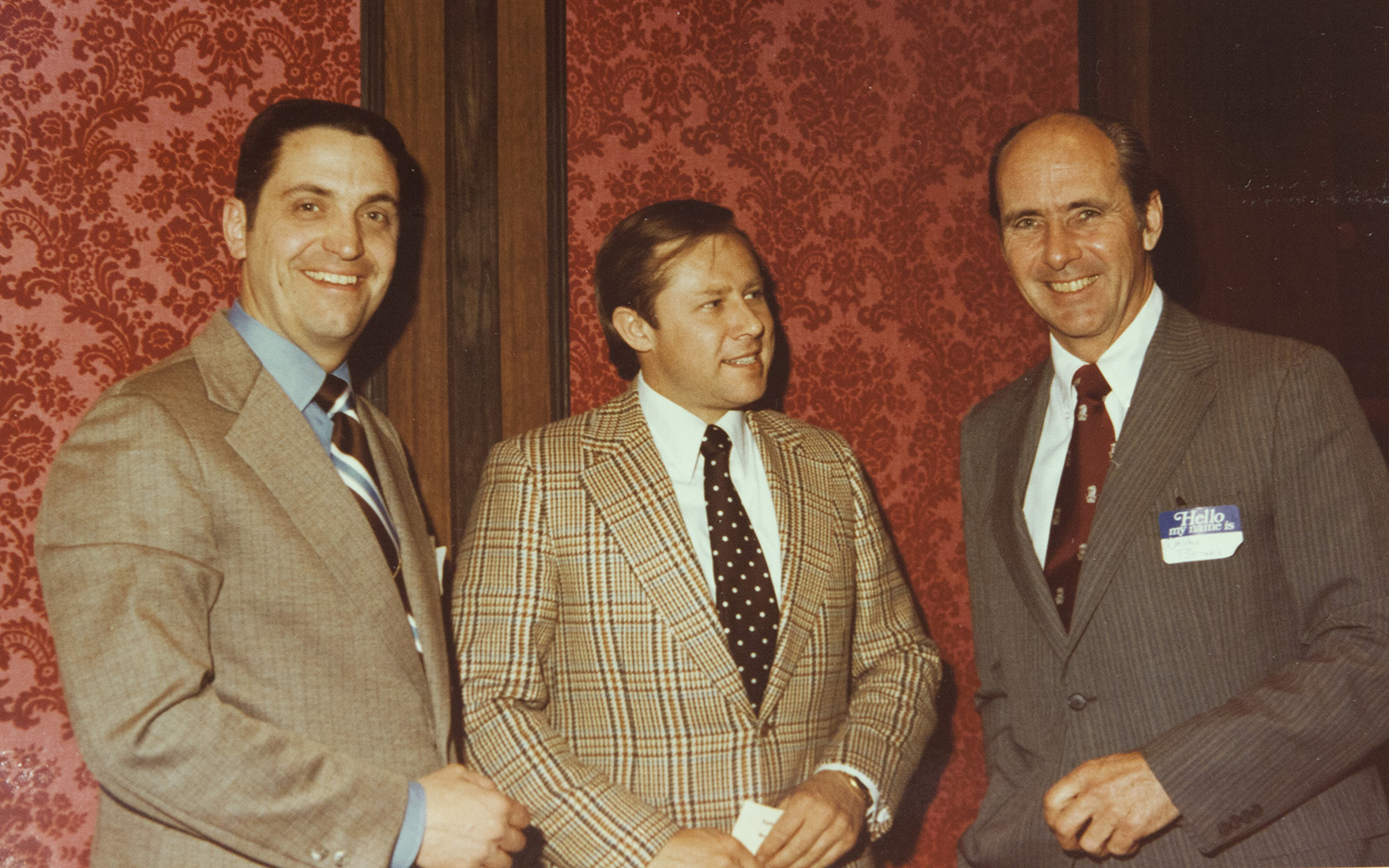 Ronald Patten, Robert Steele, and Wallace Barnes 1977 (UConn School of Business)