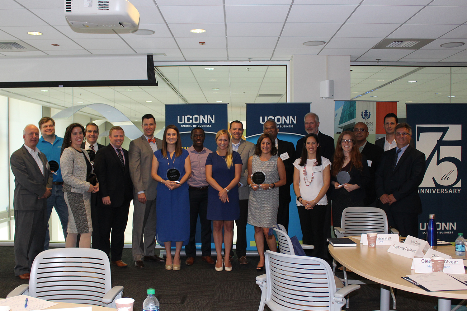 Distinguished corporate partners including Cigna, Cognizant, Gartner, IBM, Priceline and Prudential, at last week's Recruiter Summit. (Theodoros Menounos/UConn School of Business)