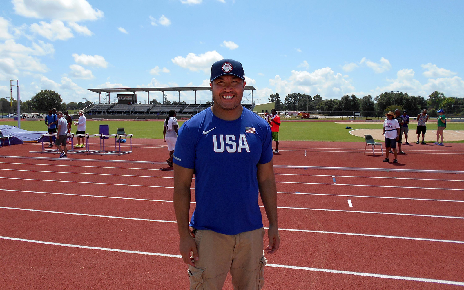 Chiropractor Norman Eng '99 (BUS) is a member of the medical team supporting America's top athletes at the Olympics. (Photo courtesy of Norman Eng)