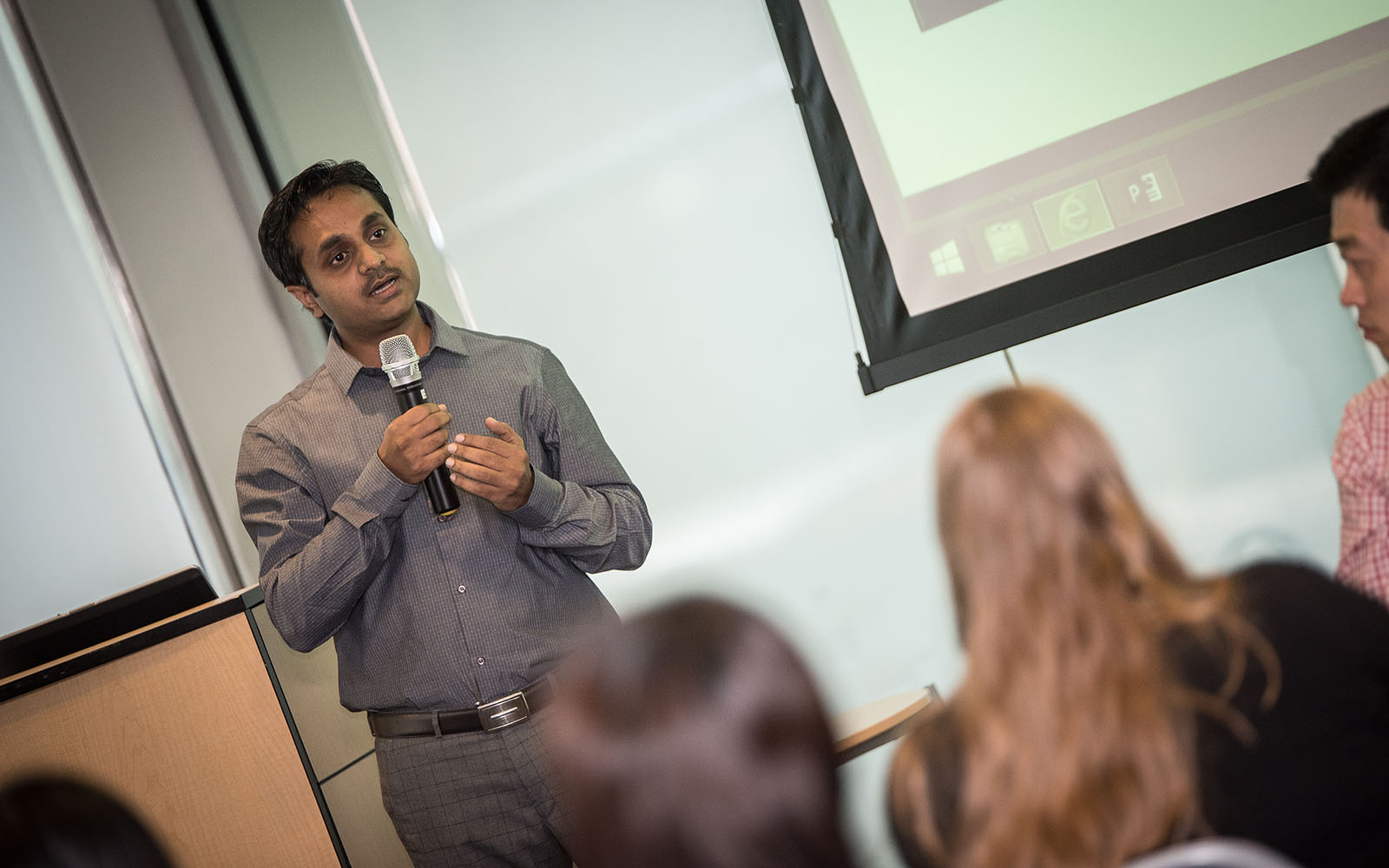Sumit Kumar '17 MBA, one of 5 UConn graduate students who participated in a new summer program called The Verge Consulting Group. (Nathan Oldham/UConn School of Business)