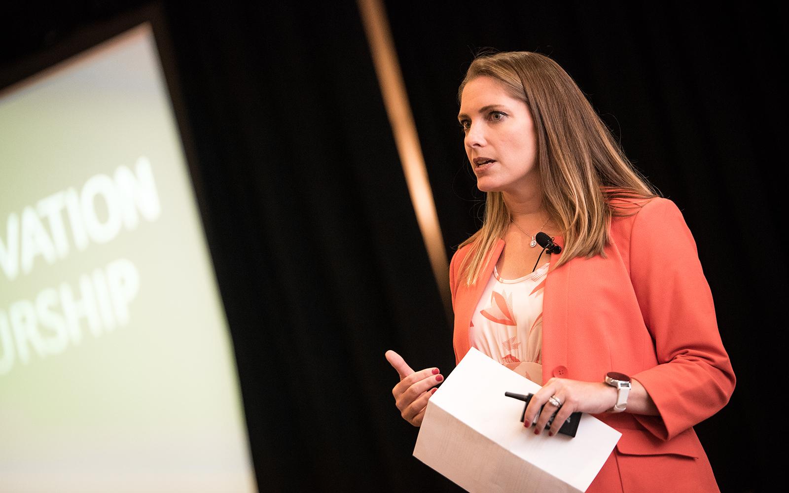 Kathryn Friedrich, Head of Global Monetization, YouTube (Nathan Oldham/UConn School of Business)