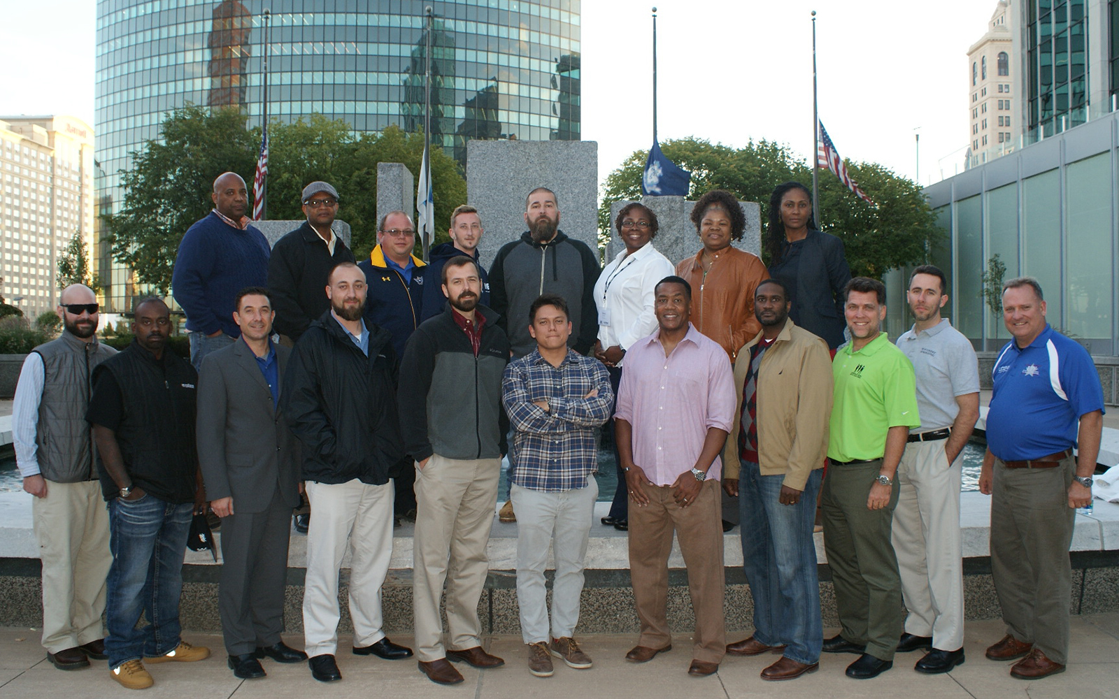 The 2016 Entrepreneurship Bootcamp for Veterans with Disabilities (EBV) Class. UConn's EBV is a 10-day program that gives veterans the knowledge, skills and helping hand they need to create their own businesses. (Lisa Ducharme)