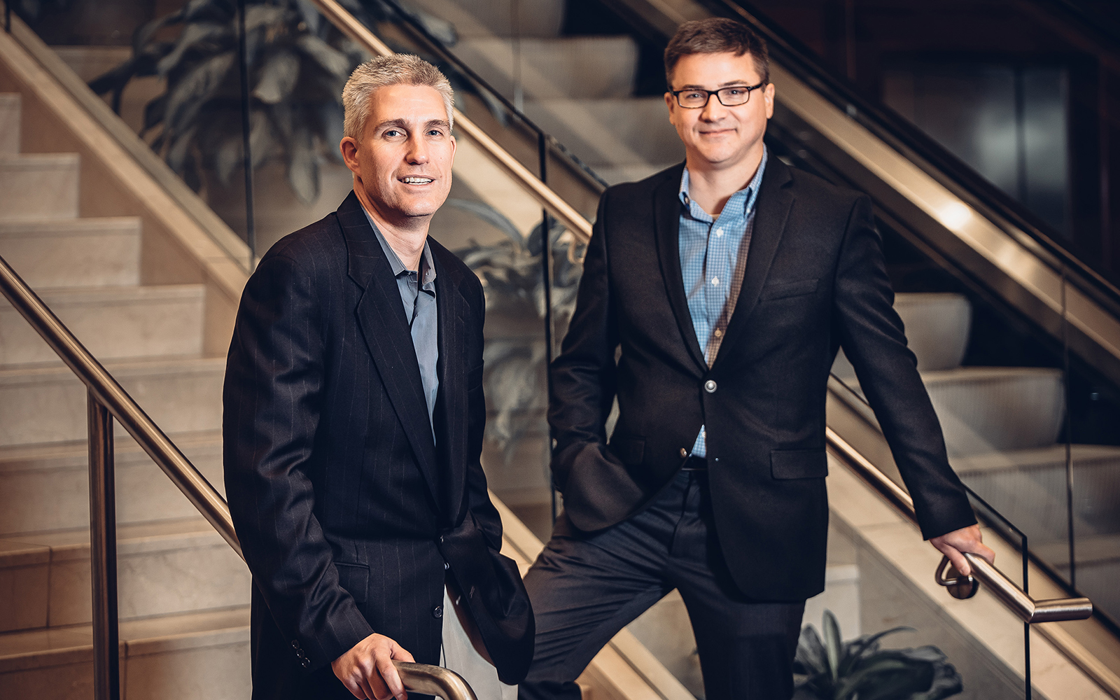 Research by UConn management professors David Souder, left, and Greg Reilly confirms that businesses focusing on short-term results are 'leaving profits on the table.' (Nathan Oldham/UConn School of Business)