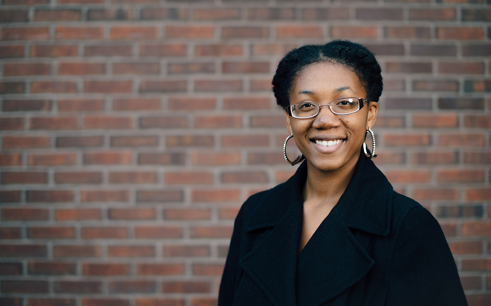 Management student Alleya Jenkins '17 wants to incorporate community and giving back into her career. (Nathan Oldham/UConn School of Business)