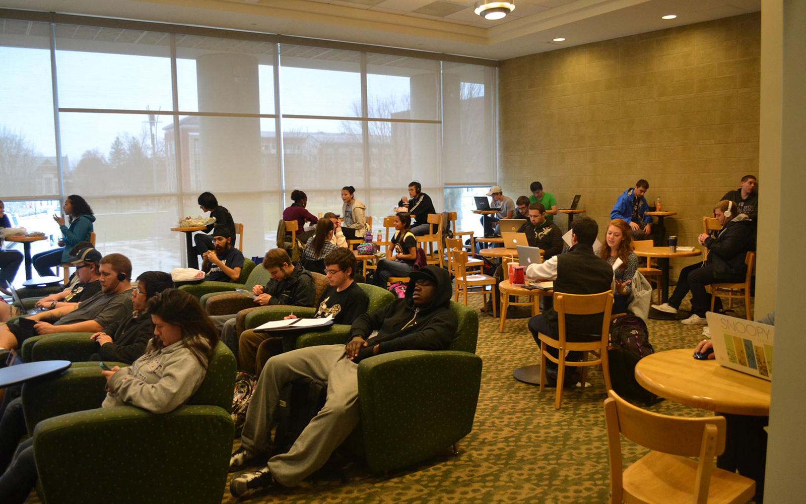 Students working in the Student Union lounge. (File Photo/The Daily Campus)