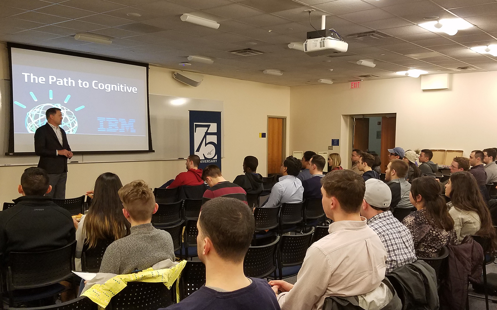 The speakers covered IBM Watson success stories as well as the role of artificial intelligence, machine learning and natural language processing. (UConn School of Business)
