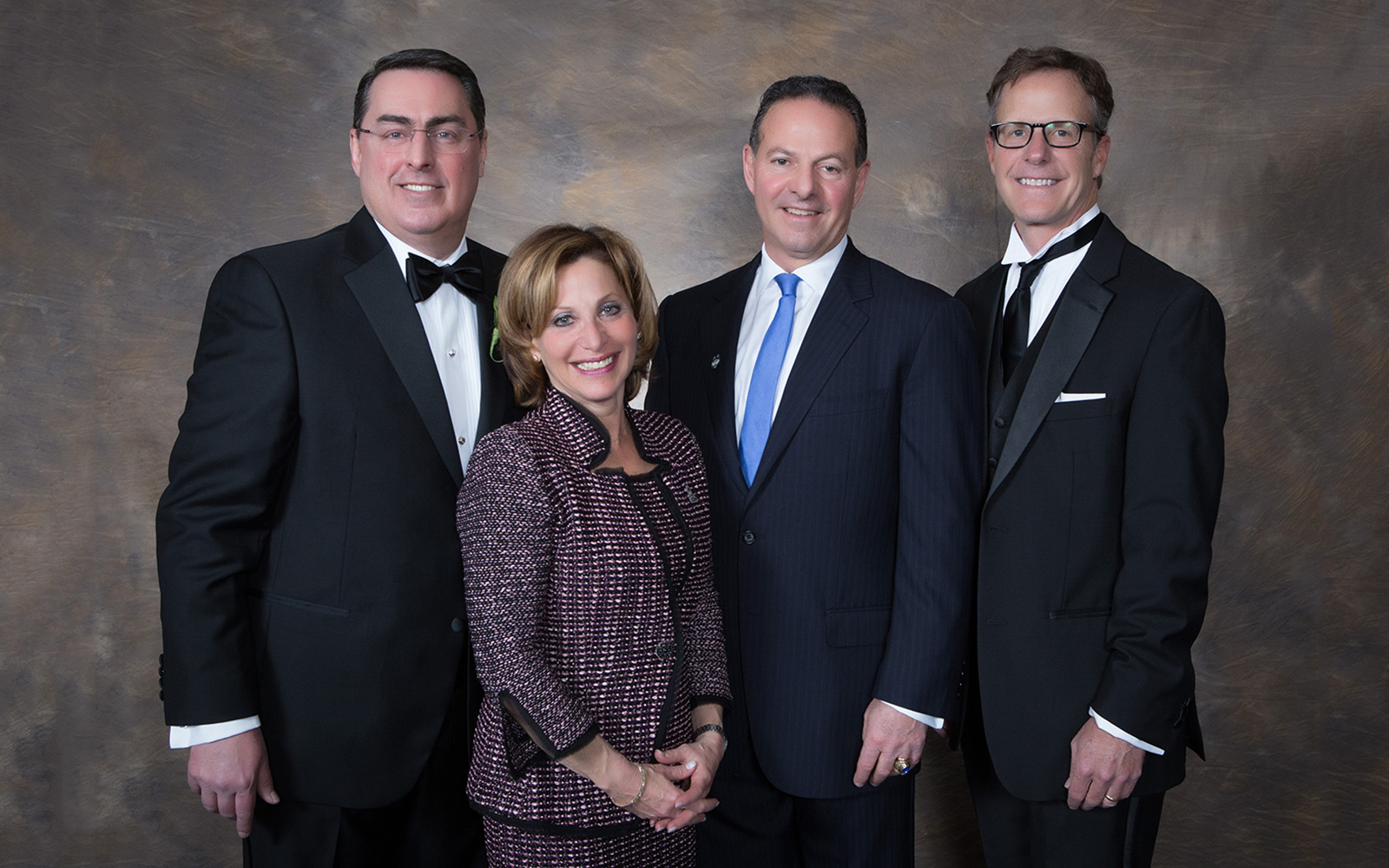 2017 Inductees to the UConn School of Business Hall of Fame: George Aylward '88, Shari G. Cantor '81, John P. Malfettone '77, and John R. Fodor '85 (Thomas Hurlbut Photography)