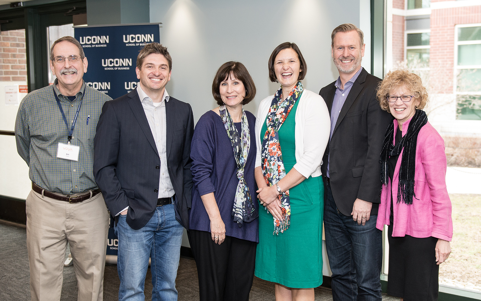 From left: Bill Ross, Remi Trudel, Jennifer Escalas, Karen Winterich, Mark Forehand, and Robin Coulter (Nathan Oldham/UConn School of Business)