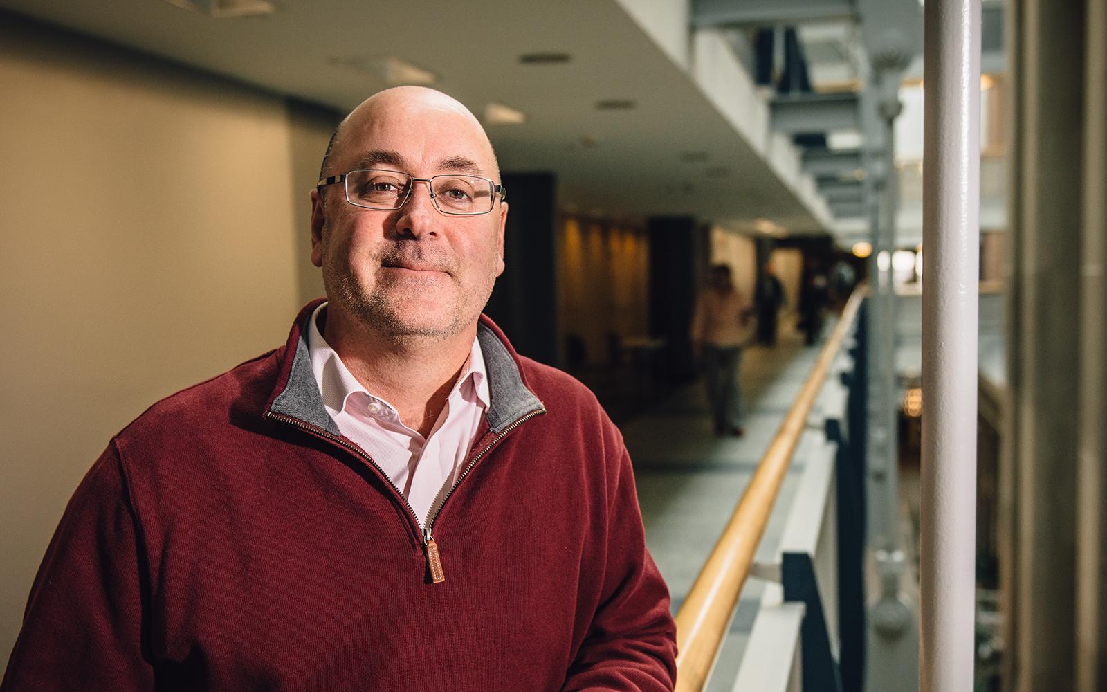 School of Business alumnus Joseph Briody '86, UConn's associate director for leadership development. (Nathan Oldham/UConn School of Business)