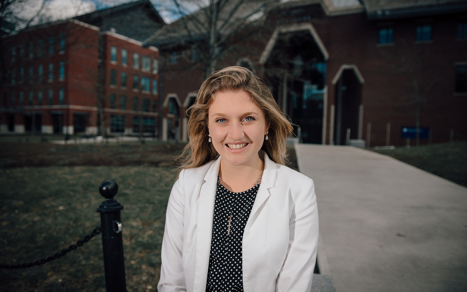 Margo Bailey, a senior honors student majoring in marketing, is the sole recipient of the competitive Fulbright Scholarship to earn a master's degree in management at IE Business School in Madrid, Spain. (Nathan Oldham/UConn School of Business)