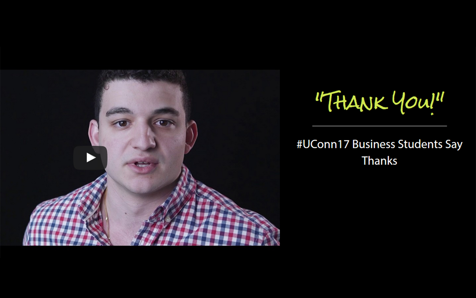 #UConn17 Business Students Say Thanks