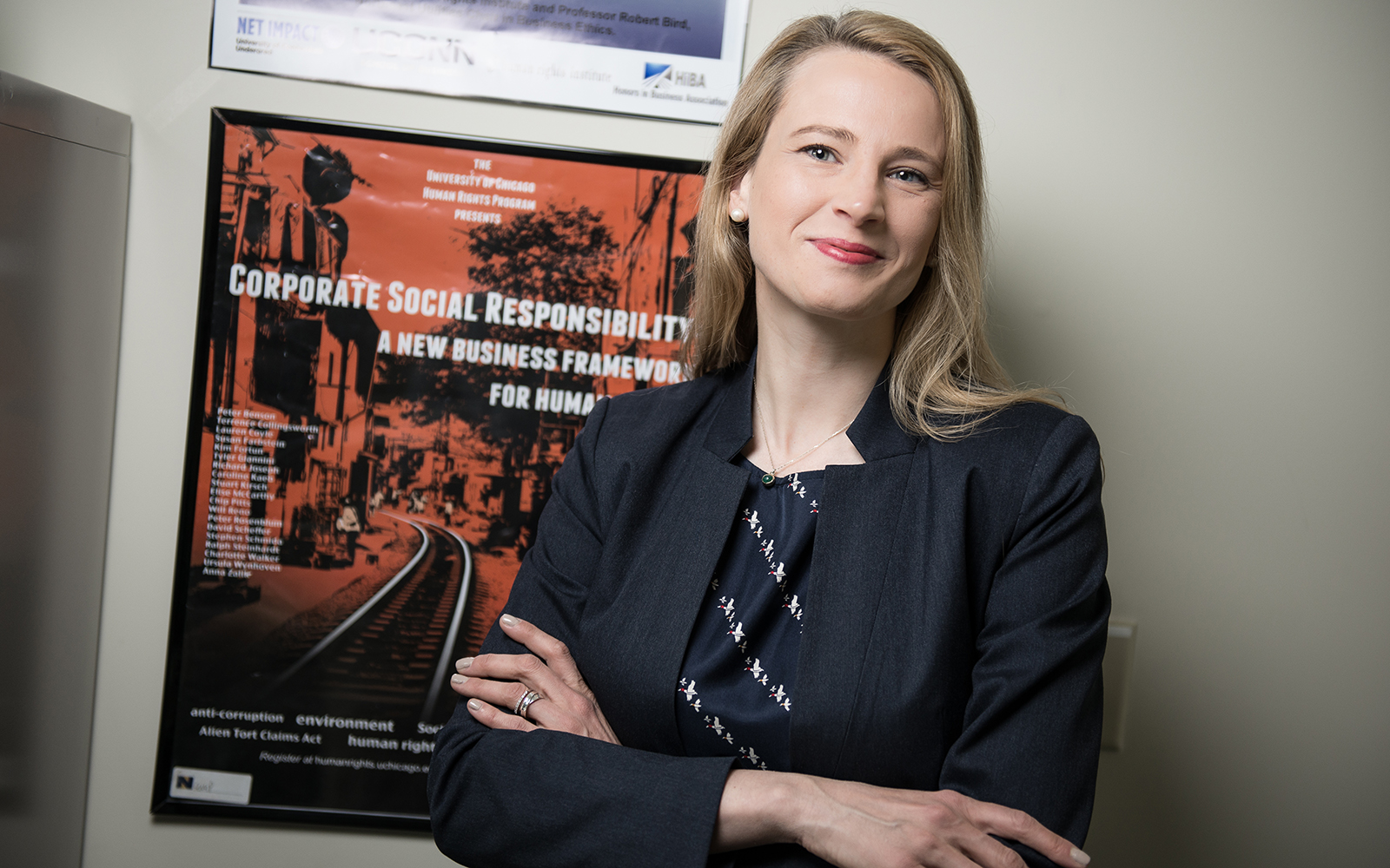 Caroline Kaeb is an Assistant Professor of Business Law and Human Rights at UConn School of Business, where she holds a joint appointment with the Human Rights Institute and a courtesy appointment with the School of Law. (Nathan Oldham/UConn School of Business)