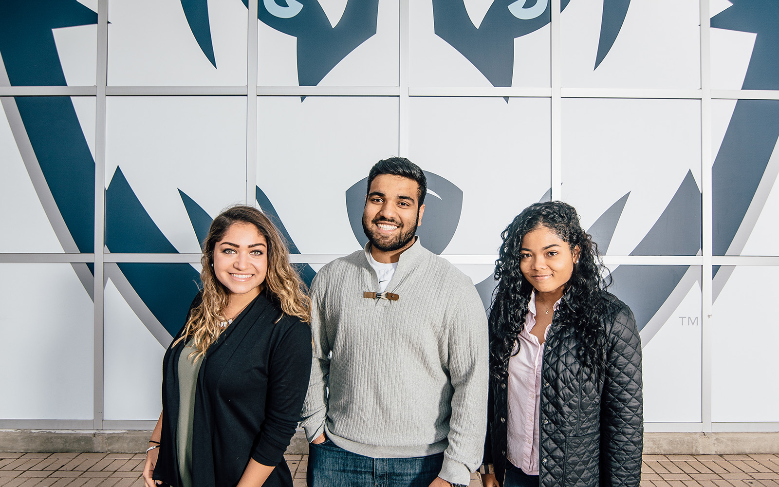 Sophomores Jessenia Nieves, Joel Thomas and Zuanny Araujo all chose to live in the Business Connections Learning Community (BCLC) at UConn, which gives them numerous opportunities to jump-start their careers. (Nathan Oldham/UConn School of Business)