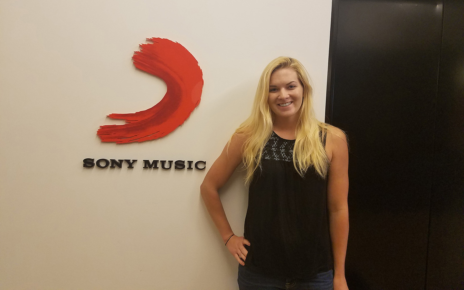 Maggie Quackenbush, during her first week at Sony Music. (Maggie Quackenbush)