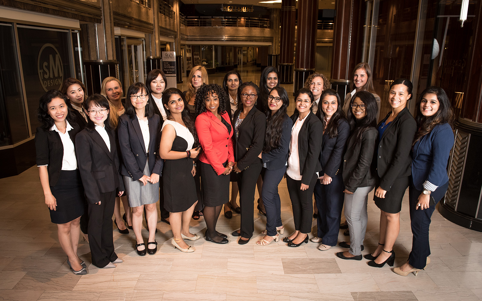 This year's Full-time MBA class is 40 percent women, up 10 percent from last year, and includes students from 16 countries in addition to the United States. (Nathan Oldham/UConn School of Business)