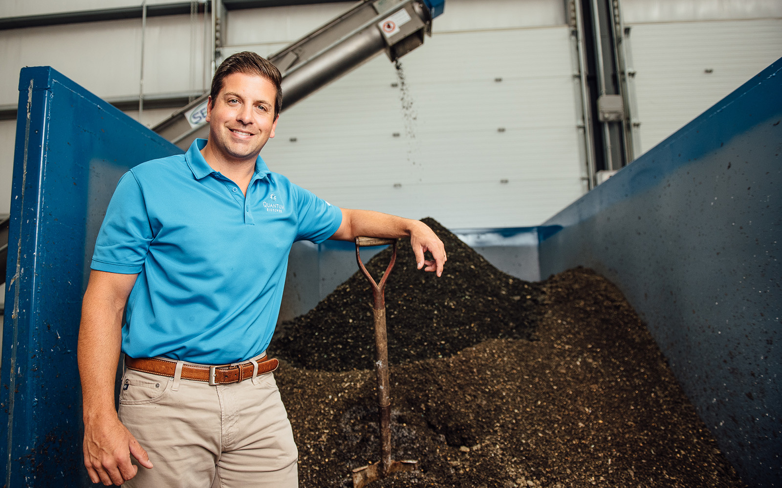 "Brian Paganini '03, vice president and managing director of Quantum Biopower, was honored by the Hartford Business Journal as a ""40 Under Forty"" award recipient earlier this month. (Nathan Oldham/UConn School of Business)"