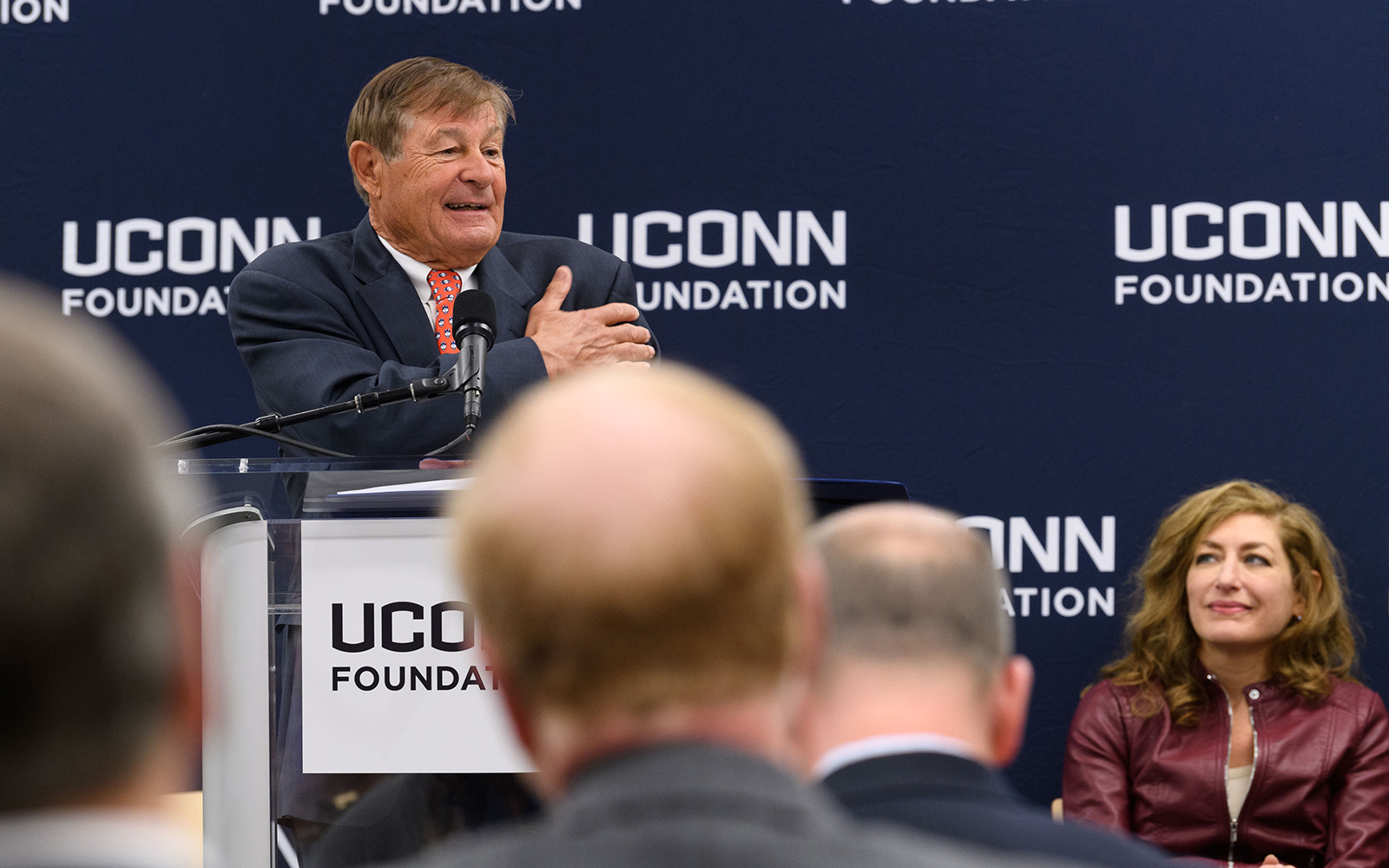 Peter J. Werth speaks at an event to announce his $22.5 million commitment to the University on Dec. 4, 2017.