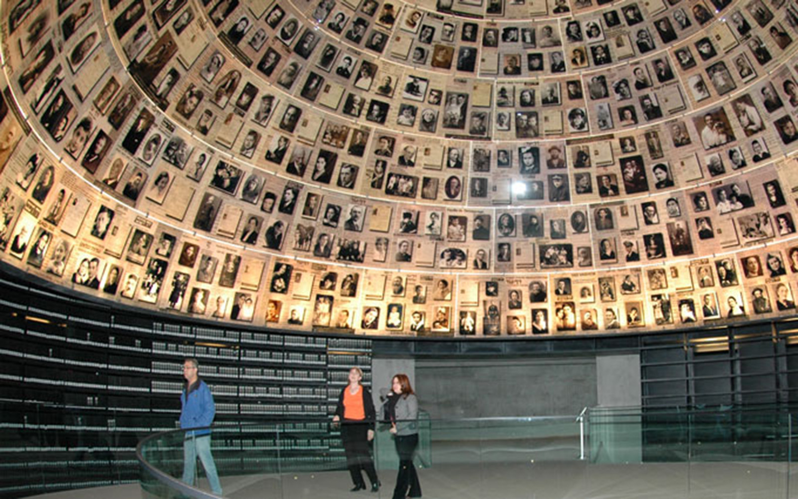 """The """"Hall of Names"""" at Yad Vashem Holocaust Center contains short biographies of every Holocaust victim (Jonathan Dacosta/UConn School of Business"""