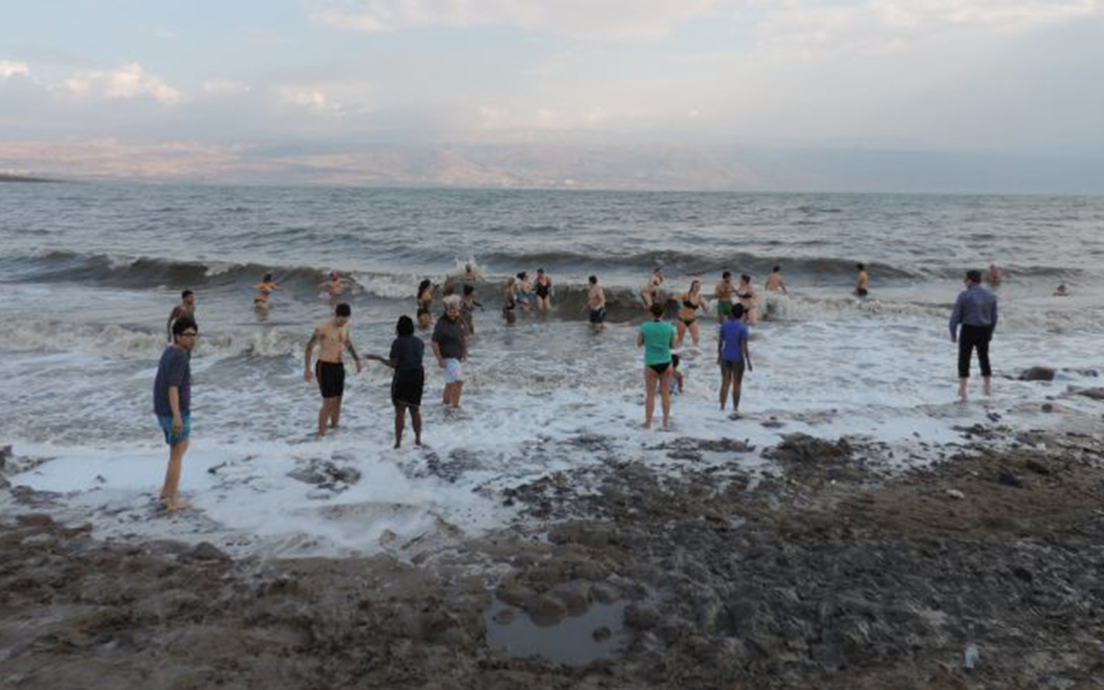 The group experiences swimming in The Dead Sea (Jenny Blessing/UConn School of Business)
