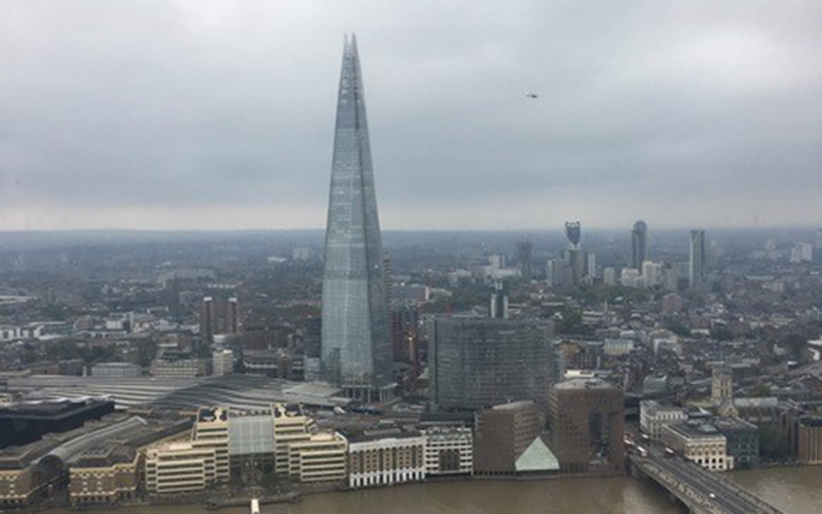 """The Shard"" as viewed from the Sky Garden in London (Brendan Mulcahey/UConn School of Business)"