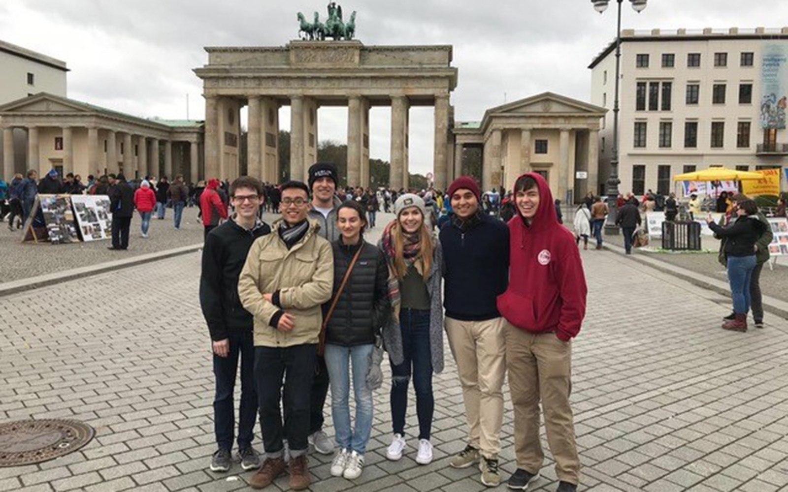 Berlin with some of my classmates (Brendan Mulcahey/UConn School of Business)