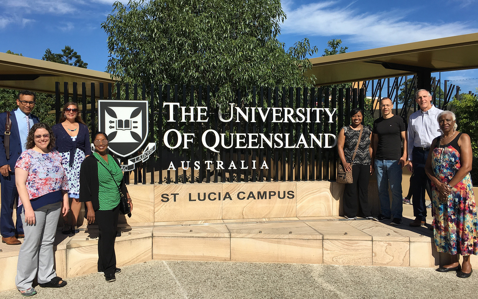 Participants in UConn CIBER's sustainable business program, at the University of Queensland St. Lucia Campus. (Michele Metcalf/UConn School of Business)