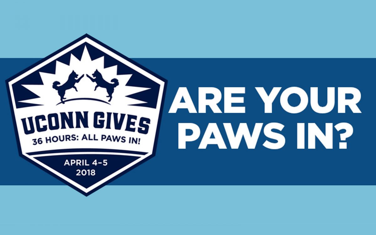 UConn Gives: 36 Hours. All Paws In.