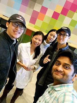 DiaSens team, four of us are from MSBAPM Program (Guanwei Tao/UConn School of Business)