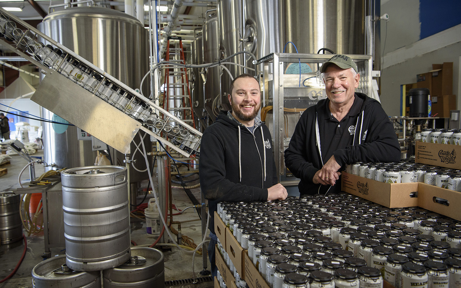 The Pastyrnaks of Counter Weight Brewing Co., just one of 1,284 businesses the CTSBDC helped in 2017 alone.  (Connecticut Small Business Development Center)