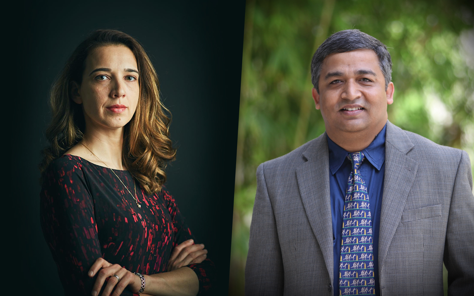 Alina Lerman and Debanjan Mitra will join the UConn School of Business faculty this fall. (Alina Lerman, Debanjan Mitra)