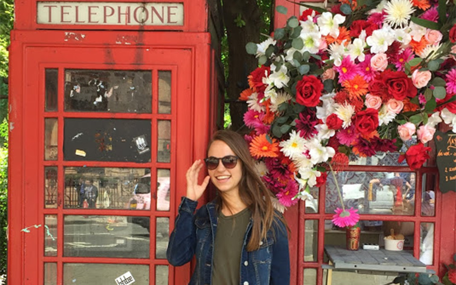 An old telephone booth in London. (Grace Guertin/UConn School of Business)