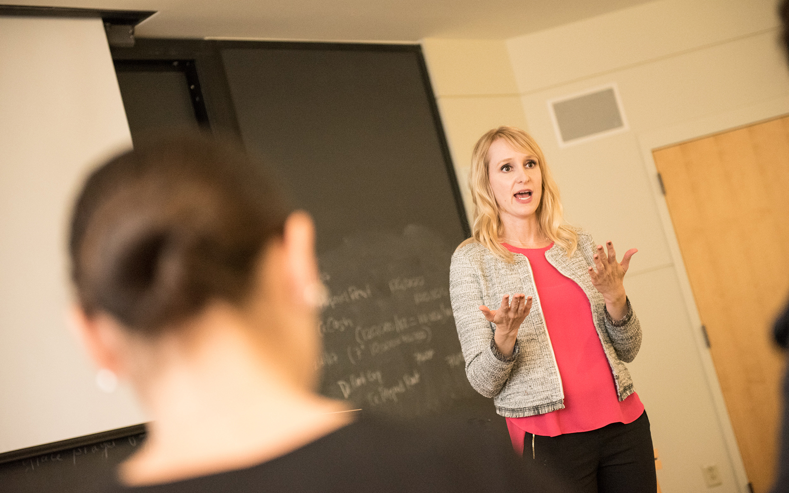 Pictured above, Professor Anna Bergman Brown teaches students at the University of Connecticut.