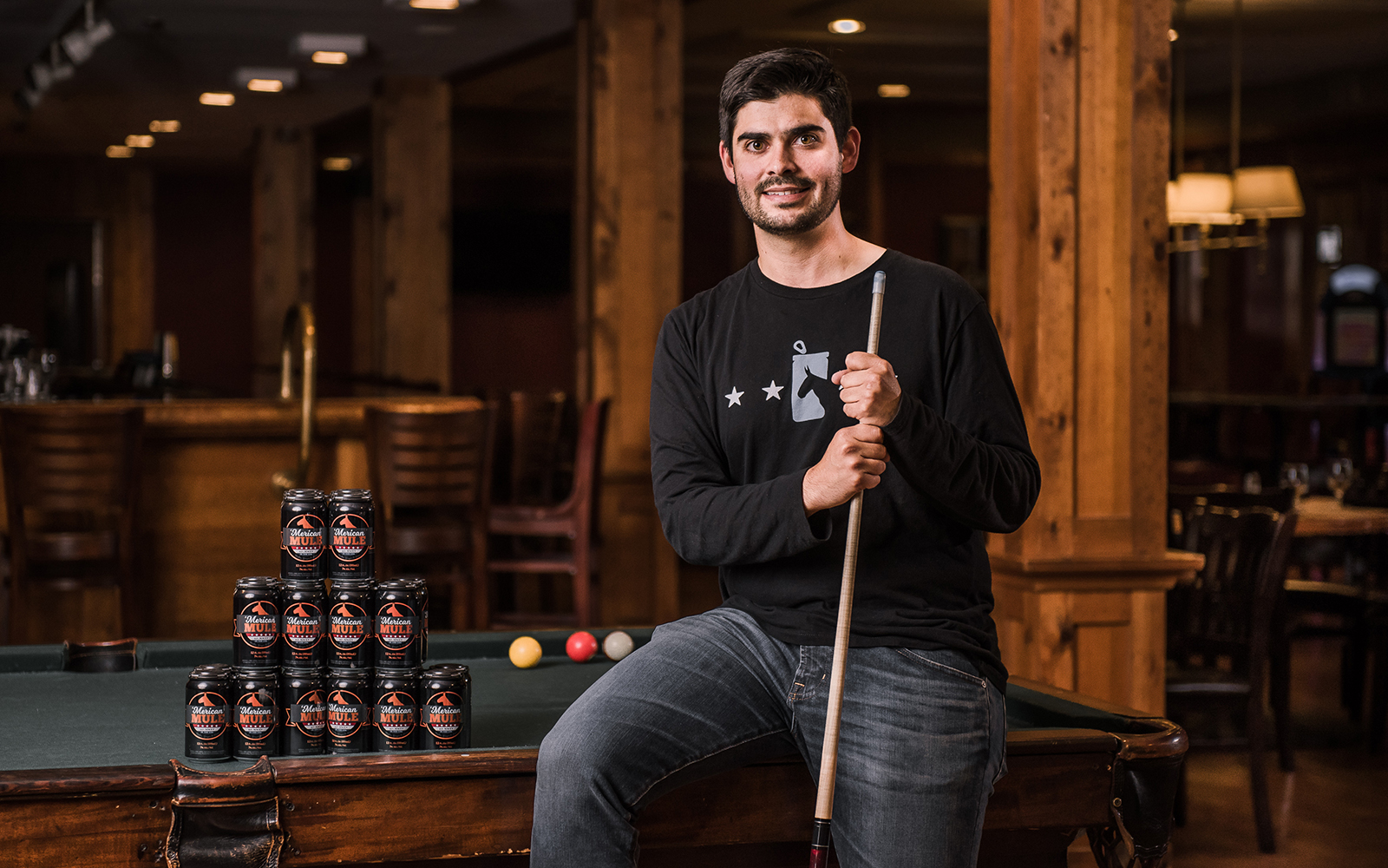 Dean Mahoney '09, pictured above, co-founded 'Merican Mule in 2015. He is spearheading East Coast distribution of his company's namesake, an alcoholic beverage inspired by the Moscow Mule. (Nathan Oldham/UConn School of Business)