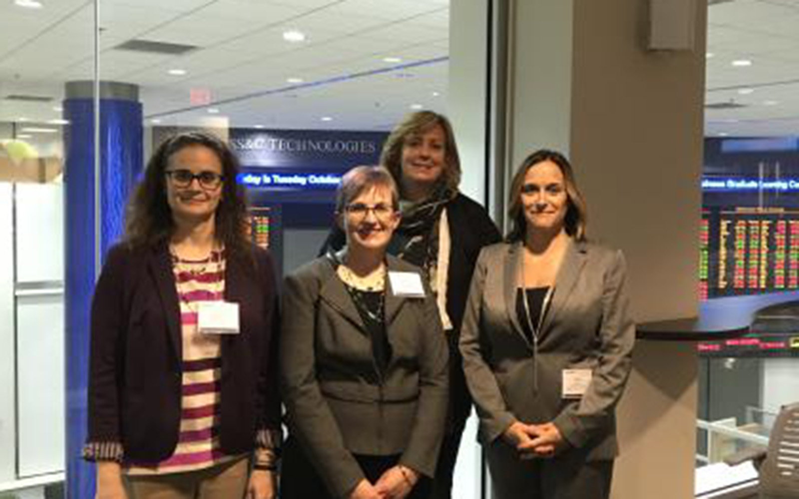 Left to Right, Emma Palmacci, Nancy Lennert '15 MBA, Lucy Gilson, and Robin Fowler '97 during the 2018 NAWMBA Conference.