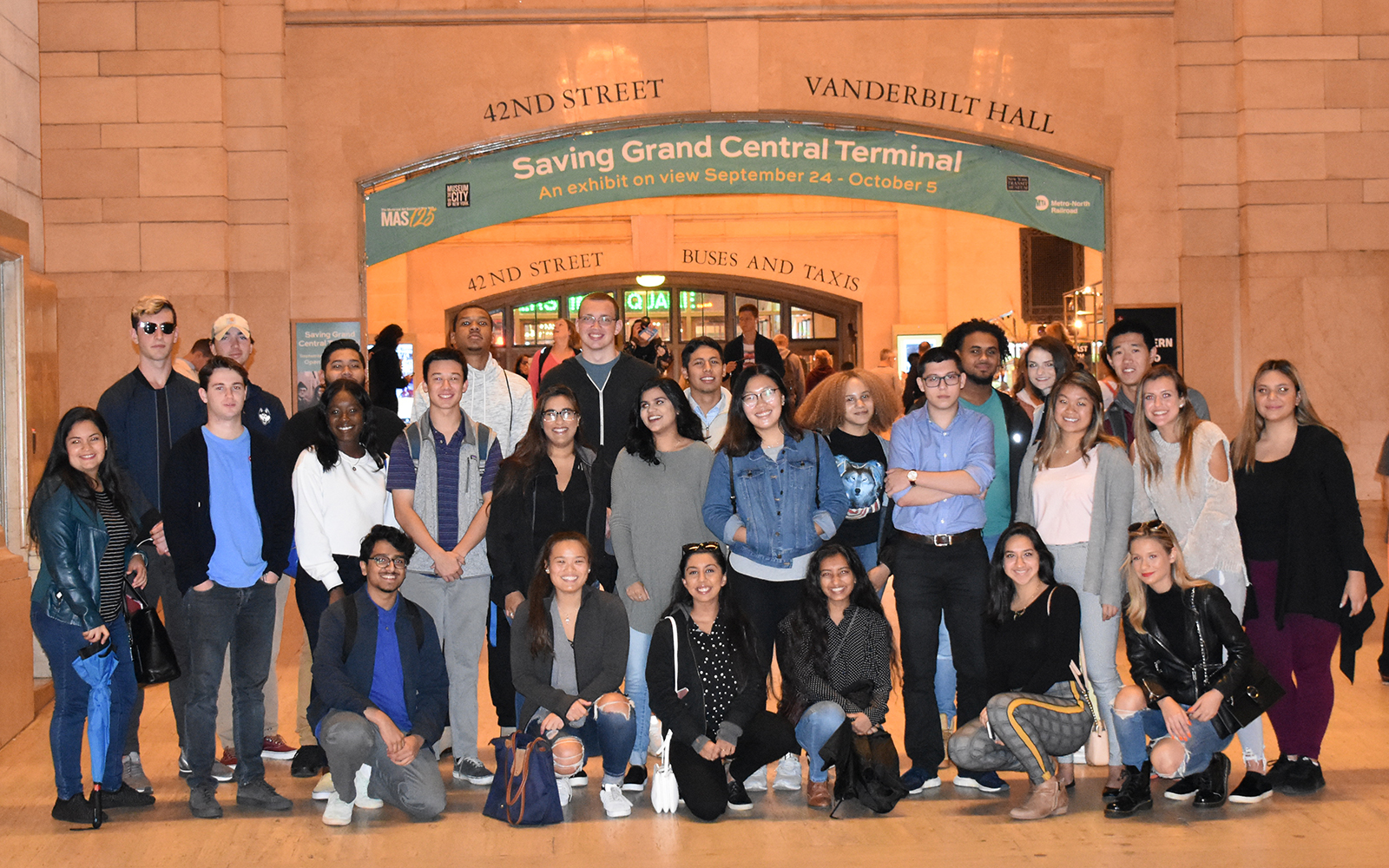 BCLC Students from UConn Stamford arriving in Grand Central Station in NYC, on their way to visit the set of Shark Tank (Courtesy BCLC)