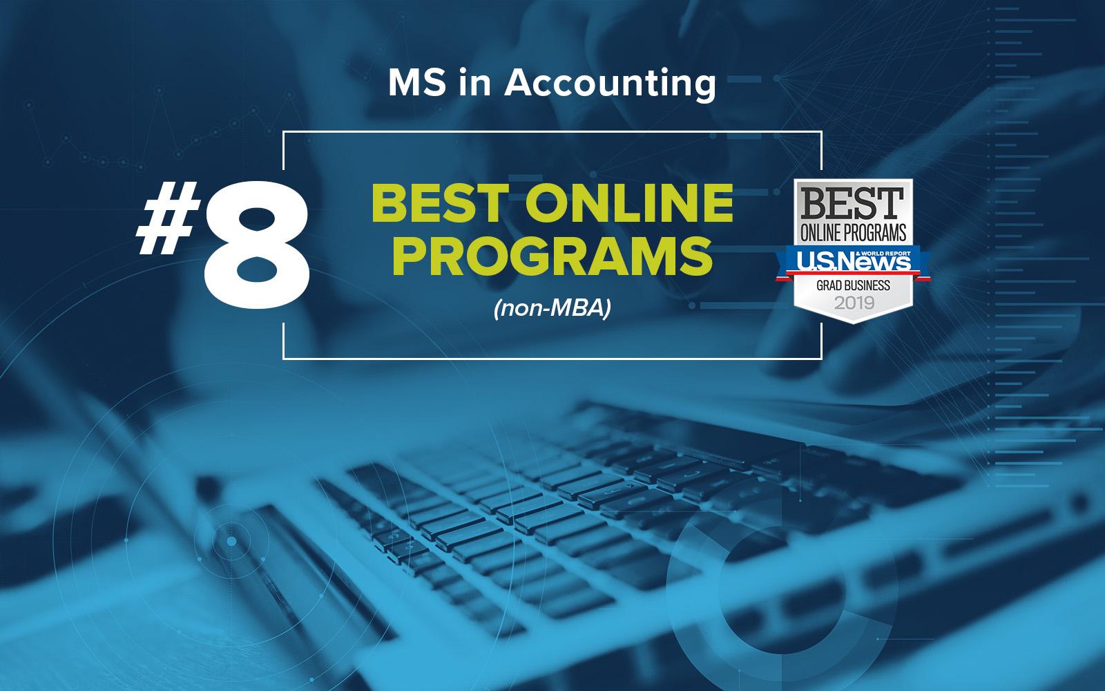 MSA Accounting - # 8 Best Online Programs (non MBA) - U.S. News & World Report