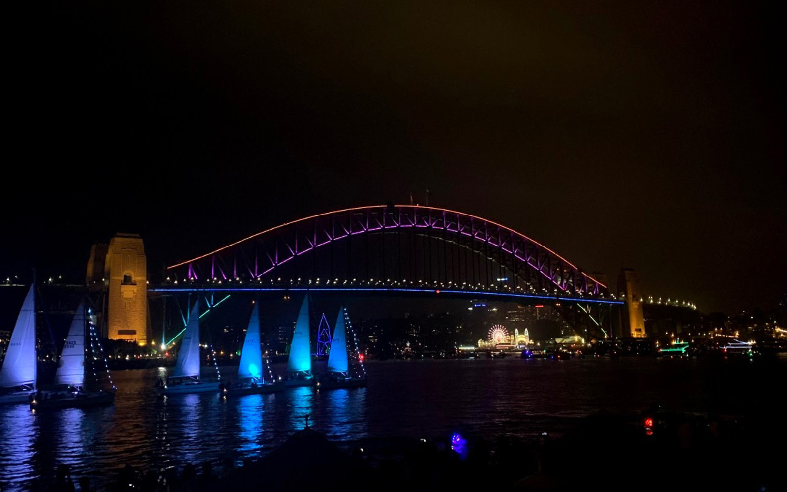 Sydney Harbor Bridge Light Show (Victoria Myers/UConn School of Business)