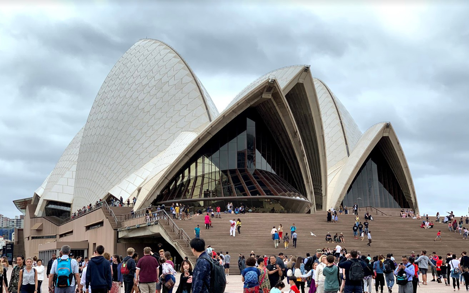 The Sydney Opera  House, up close (Victoria Myers/UConn School of Business)