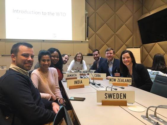 UConn MBA students visit the WTO