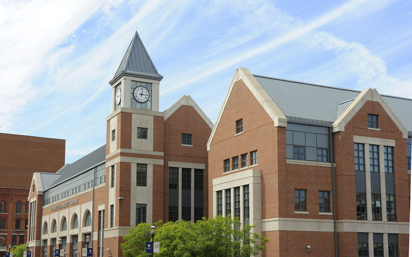 An exterior view of the Waterbury Campus. (UConn photo)